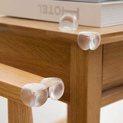 Clear Furniture Edge Table Corner Protectors  Baby Child Safety Desk Guard 4 pcs