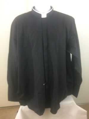 ad47dbe925a74 Hammond   Harper Of London 1 Inch Tunnel Collar Clerical Black Men s Size  17.5