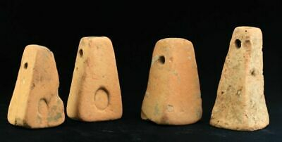 *SC*LOT OF FOUR GREEK PYRAMIDAL POTTERY LOOM WEIGHTS, 4th-1st cent BC!!