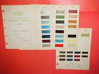 1969 CHRYSLER PLYMOUTH Dodge Super Bee Road Runner Exterior+Interior Paint  Chips