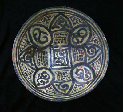 *SC*LARGE ISLAMIC POTTERY BOWL, WESTERN-CENTRAL ASIA, 10th-11th. cent. AD!