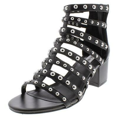 0265c9f4a55 STEVE MADDEN WOMENS Mania Studded Strappy Gladiator Sandals Shoes ...