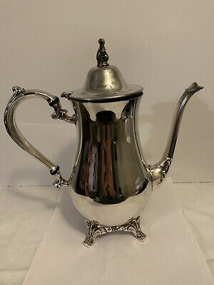 SILVER PLATED ONEIDA TEAPOT Made In USA Vintage Decorative Top & Handle