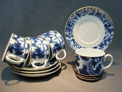 4 Fine Ralph Lauren Round Hill China Tea Cup and Saucer Sets LRNROH