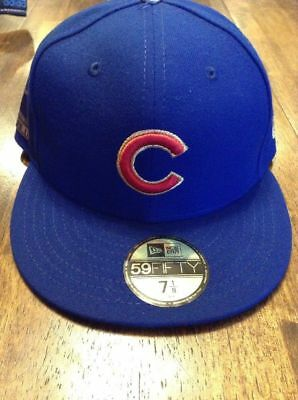 e9e294e0c82 CHICAGO CUBS MLB New Era Authentic World Series Fitted Hat Cap 7 1 4 ...