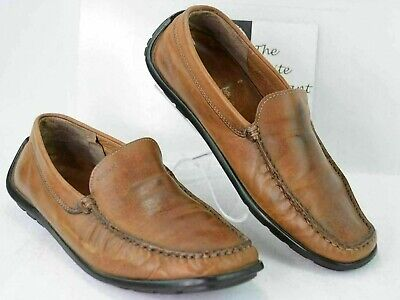 6b095ee5625 GEOX Respira Mens 9 US 42 EU Slip on Driving Mocs Loafers Shoes Light Brown  Y159