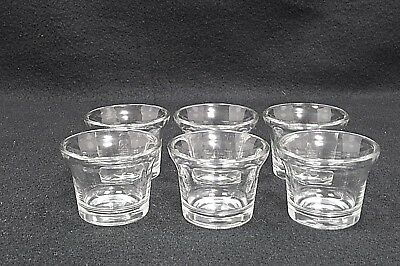Libbey Glass Oyster Cocktail Votive Tealite Holders 6 Total