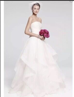 c3ee4ab286ca Authentic New Rosa Clara 'Cava' Tiered Silk wedding dress Size 10 $3200