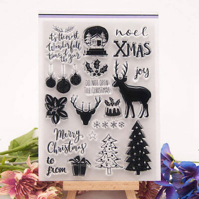 Christmas Deer Joy Transparent Clear Silicone Stamp for DIY scrapbooking