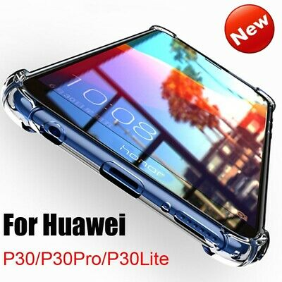 For Huawei P30Pro/Lite Case Soft Silicone Shockproof Clear TPU Back Cover Case