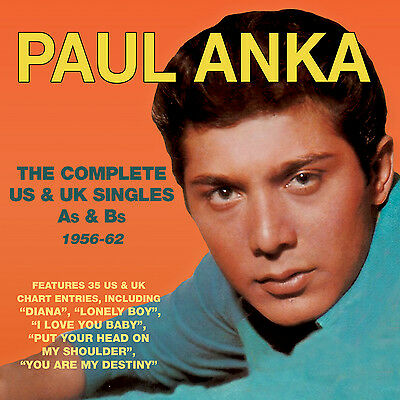 PAUL ANKA New Sealed 2019 COMPLETE As & Bs 1956 - 62 2 CD SET
