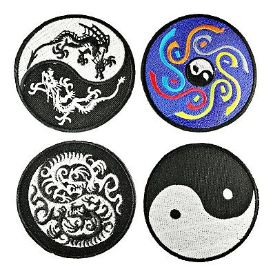 Yin Yang Tao Dao Taoism logo emblem sign badge Lot 4 embroidered iron on Patches