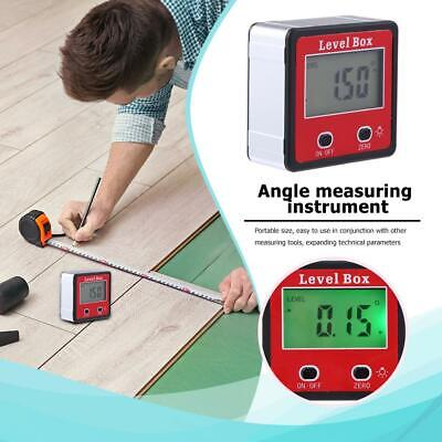 Digital Protractor Spirit Bevel Level Box Angle Finder Gauge Meter Inclinometer