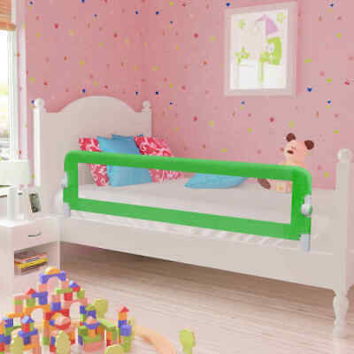 vidaXL 2x Toddler Safety Bed Rail Green 150x42cm Cotbed Protective Gate Guard