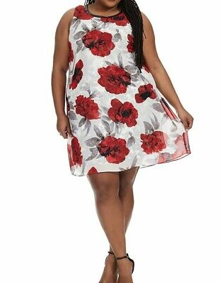 Park And Pierce Cora Scuba Knit Fit And Flare Dress In Shiraz Size 2X