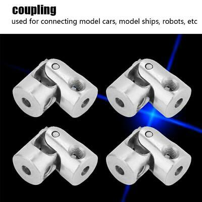 4pcs Shaft Coupling Motor Connector Steering Length 18mm OD 8mm Universal Joint