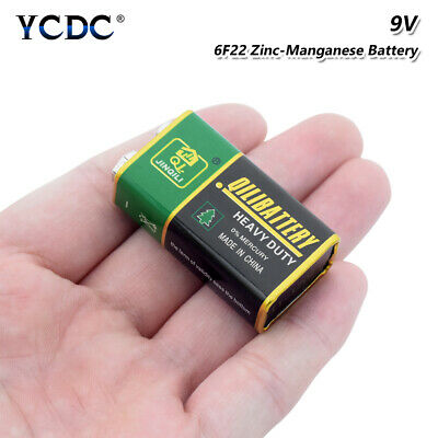 Heavy Duty 9V 6F22 Dry Zn/MnO2 Battery For RC Toy Smoke Alarm Microphone Cell 6