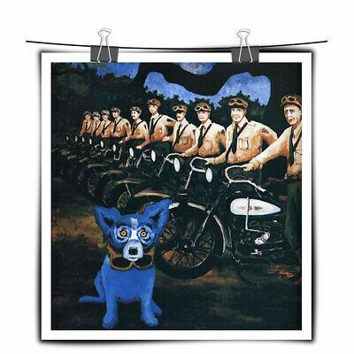 Blue Dog cartoon art painting HD print canvas home decor wall art picture 22X24