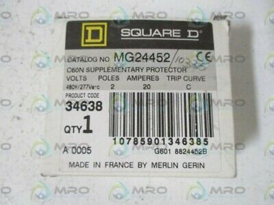 Square D Mg24552 Circuit Breaker * New In Box *