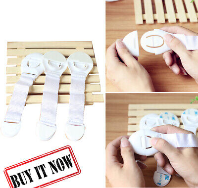 10Pcs Baby Safety Locks Child Proof Cabinets, Drawers, Appliances, Toilet Seat