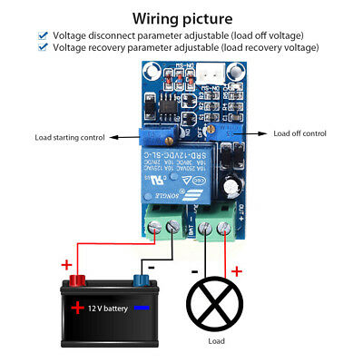Battery Charge Controller Undervoltage Protection Module Only for 12V Battery