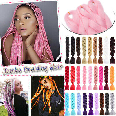 Best Quality Fiber Twist Braid Sew In Box Briading Hair Extensions Red Pink T6