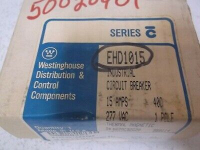 Westinghouse Ehd1015 Circuit Breaker 15Amp 1-Pole * New In Box *
