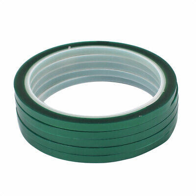 5 Pcs 5mm x 33 Meters Green PET High Temp Resistant Tape for PCB Soldering