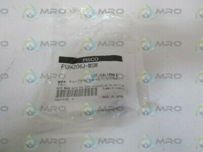 Pisco Fitting Fvpa206J-Msm * New In Factory Bag *