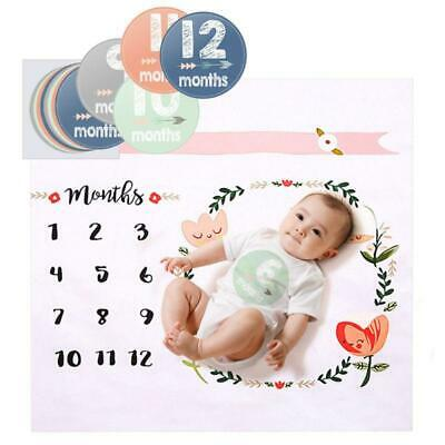 Newborn Baby Milestone Blanket Mat Photography Prop Monthly Growth Photo