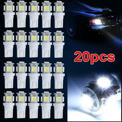 20 x T10 5050 W5W 5 SMD LED Car Side Wedge Tail Light Parking Lamp Bulb White BE