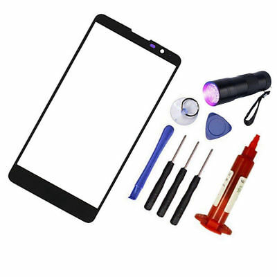 FOR LG STYLO 2 LS775 Black Repair Outer Front Screen Glass