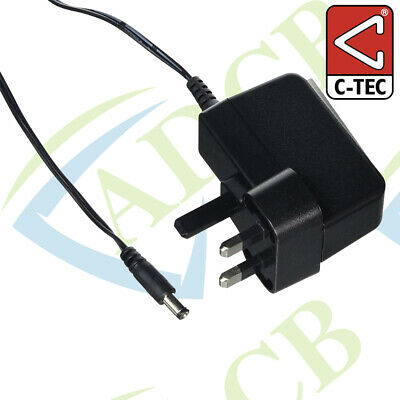 C-Tec Single Way Charger for QT412 Range Transmitters 6.5V 0.2A Power Supply PSU