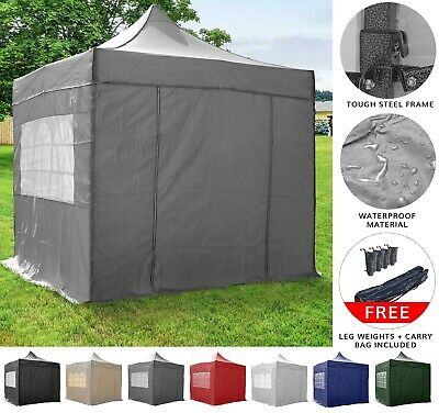 Airwave Essential 3x3m Pop Up Gazebo with Sides - Waterproof Garden Marquee
