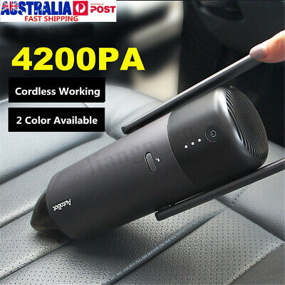 AU 4200PA Handheld Cordless Portable Car Vacuum Cleaner Super Suction Dust Tool