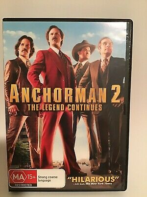ANCHORMAN 2 THE LEGEND CONTINUES Dvd WILL FERRELL STEVE CARELL ***