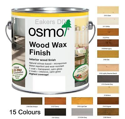 Osmo ® Wood Wax Finish Transparent in 15 Colours-5ml, 125ml, 750ml & 2.5 Litres