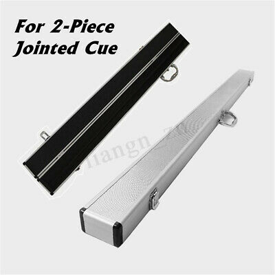 Aluminum 1/2 2-Piece Jointed Pool Snooker Billiard Cue Case Protection Silver AU