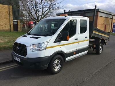 2016 Ford Transit 2.2 TDCi 350 L3H1 Double Cab 1-Way Tipper RWD 4dr Manual Tippe