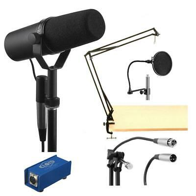 Shure SM7B Cardioid Dynamic Studio Vocal Microphone With Accessory Bundle #SM7BD