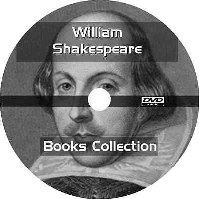 * WILLIAM SHAKESPEARE BOOKS COLLECTION  * 19+ AUDIOBOOKS on 1 DVD MP3 *
