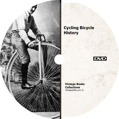 * ULTIMATE CYCLING BIKE BICYCLE HISTORY 51 BOOKS on DVD * PENNY FARTHING JERSEY