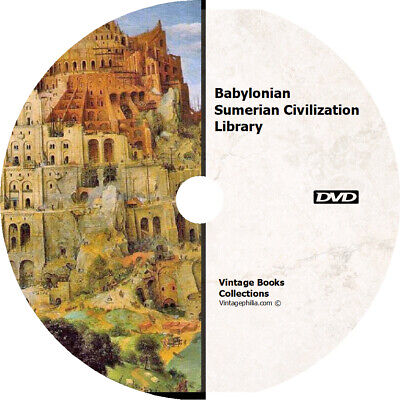 * Babylonian Sumerian Civilization Library 169 Rare Books Dvd Ancient Near East