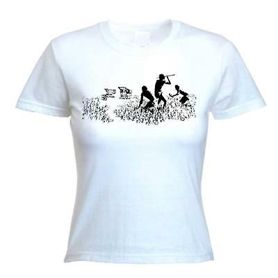 BANKSY SHOPPING TROLLEY HUNTERS T-SHIRT - Hunting Cavemen - Choice Of Colours
