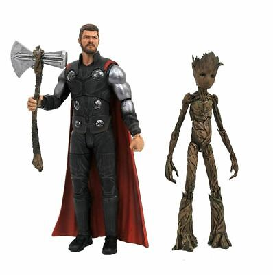 Marvel Select: Avengers Infinity War: Thor and Groot Action Figure