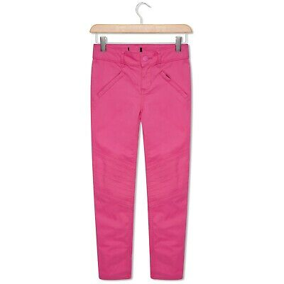Girls Bright Pink Skinny Jeans Trousers Toddler & Older Girls 4-14 Years