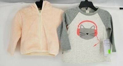 Harper Canyon And Tucker+Tate Baby Girls Hooded Jacket and Graphic Tee 12M NWT