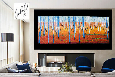 "59""   Art  Painting bush scrub Australia  orginal  COA by jane not aboriginal"