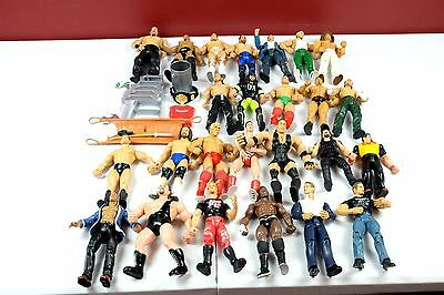 WWE Jakks Claasic Wrestling FIGURE LOT of 25 + Accessories WWF NXT ECW WCW NWO