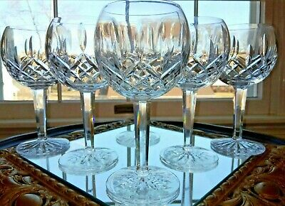 """Waterford  Lismore Balloon Wine Glass set of 6 Excellent Condition 7 1/4"""""""